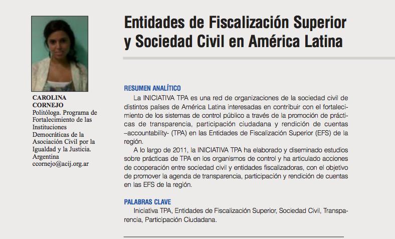 Presentación de la Iniciativa TPA - Revista REI