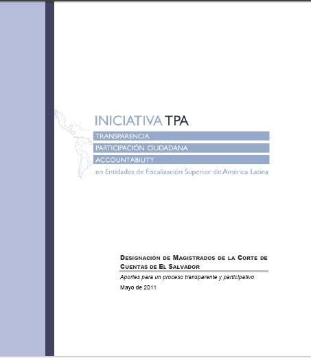 La designación de Magistrados de la CC, El Salvador