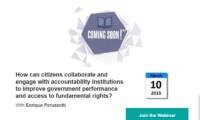 Colaboración entre ciudadanos e instituciones de rendición de cuentas: próximo webinar