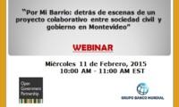 Webinar OGP sobre colaboración entre sociedad civil y gobierno en Montevideo