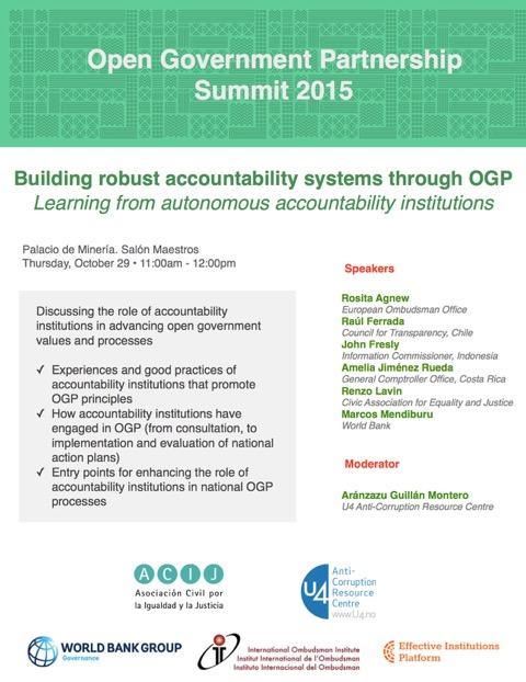 Announcement OGP Summit 2015